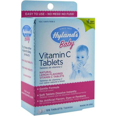 Hylands bébé Comprimés de vitamine C 125 CT