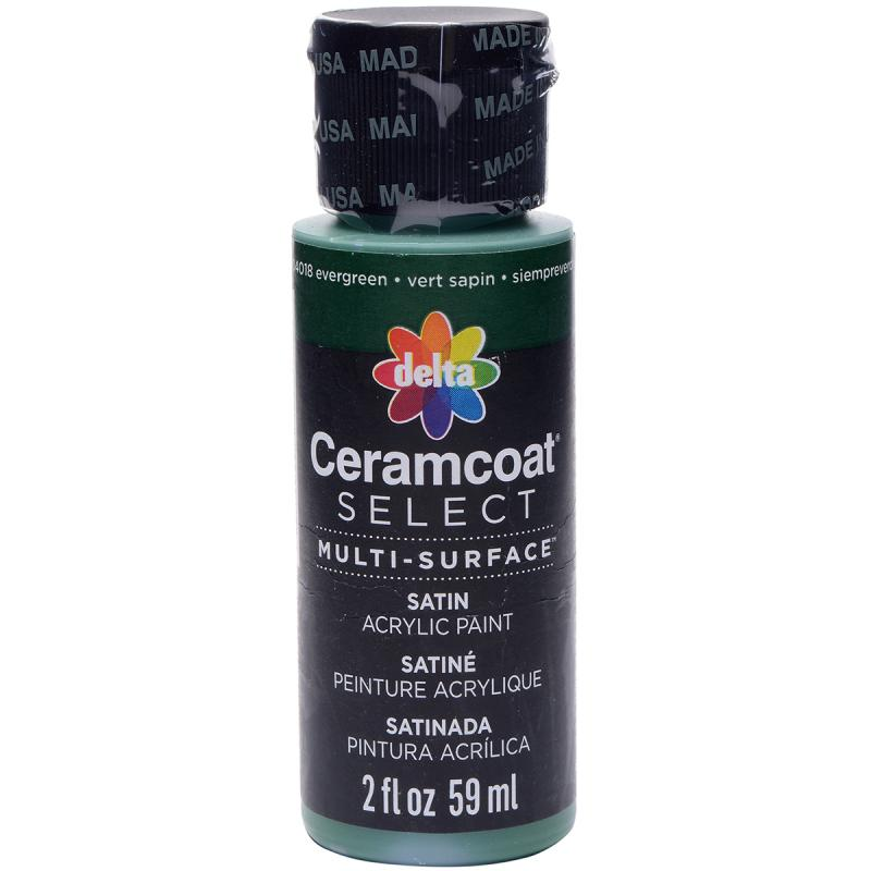 Ceramcoat Select Multi-surface Paint 2oz-evergreen
