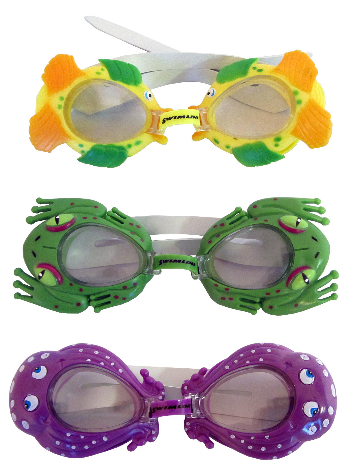 Sea Pals Kids Goggles for Swimming Pool 3 Pack by