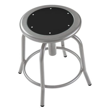 Magnificent National Public Seating 6810 02 18 25 In Height Adjustable Designer Stool With Black Seat Grey Frame Inzonedesignstudio Interior Chair Design Inzonedesignstudiocom