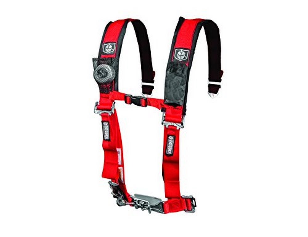 "Pro Armor A114220RD Red 4-Point Harness with 2"" Pads by Pro Armor"
