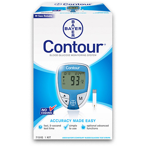 Bayer Contour Blood Glucose Meter, Blue