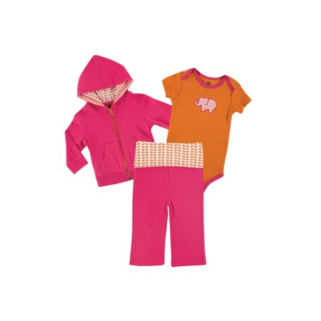 Lace Layette Set (Baby Girl Hoodie, Bodysuit and Pant)
