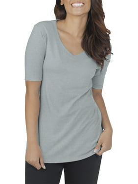 2236a50c Product Image Women's Essentials Soft Elbow Length V-Neck T Shirt