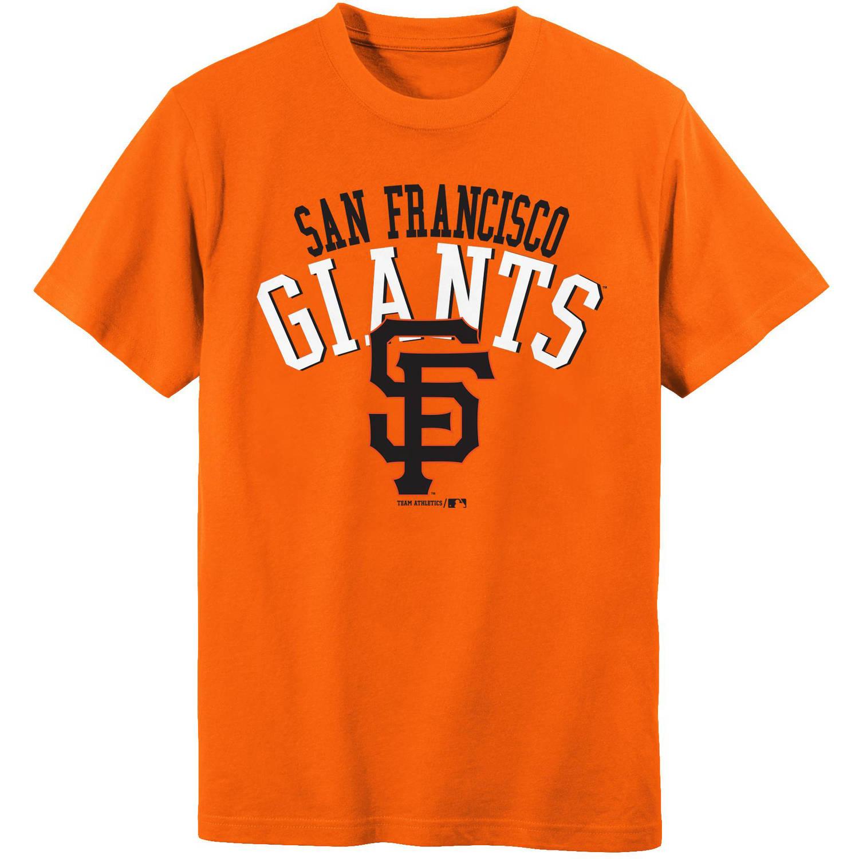 MLB San Francisco Giants Boys 4-18 Short Sleeve Alternate Color Tee Team