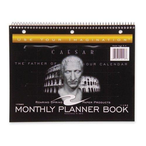 "Roaring Spring Monthly Planner - 11"" X 8.50"" - 1 Month Single Page Layout - Black (ROA12118)"