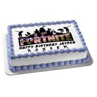Fortnite Battle Royale Happy Birthday Personalize Edible Cake Topper Image abpid51014