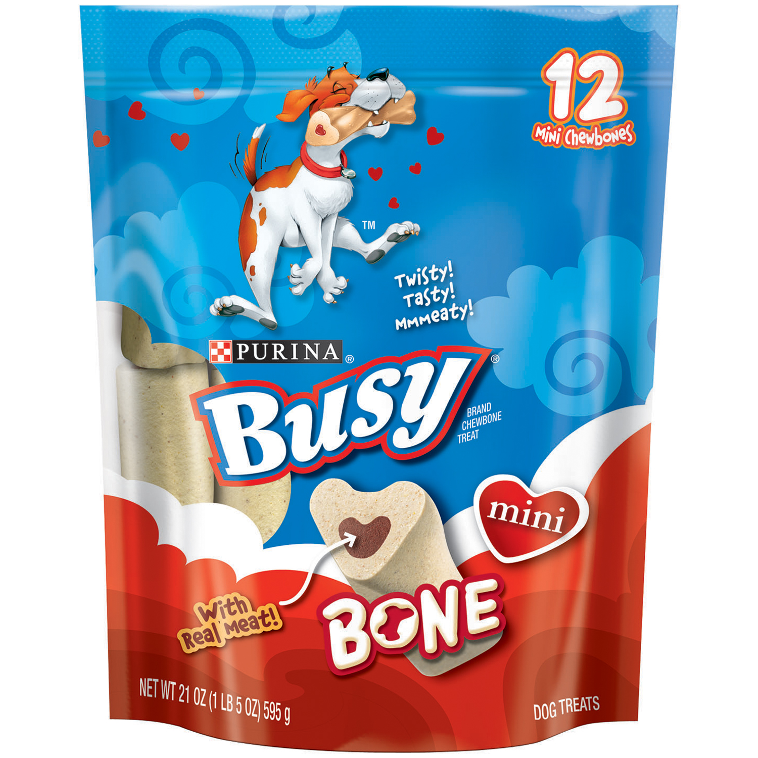 Purina Busy Bone Mini Dog Treats 12 ct Pouch