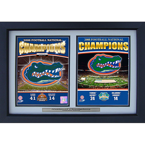 NCAA Florida Double Custom Frame, 12x18