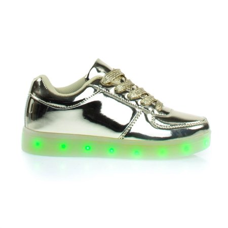 Signal60K by Link, Metallic EDM Sneakers w Multi Colored LED Lights](Shoe Led)