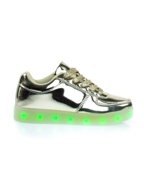 Signal60K by Link, Metallic EDM Sneakers w Multi Colored LED Lights