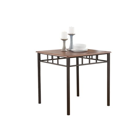 """Tuscan Kitchen Dinette Dining Table, Cherry Metal Frame & Wood Top, Transitional, 30"""" Square"""