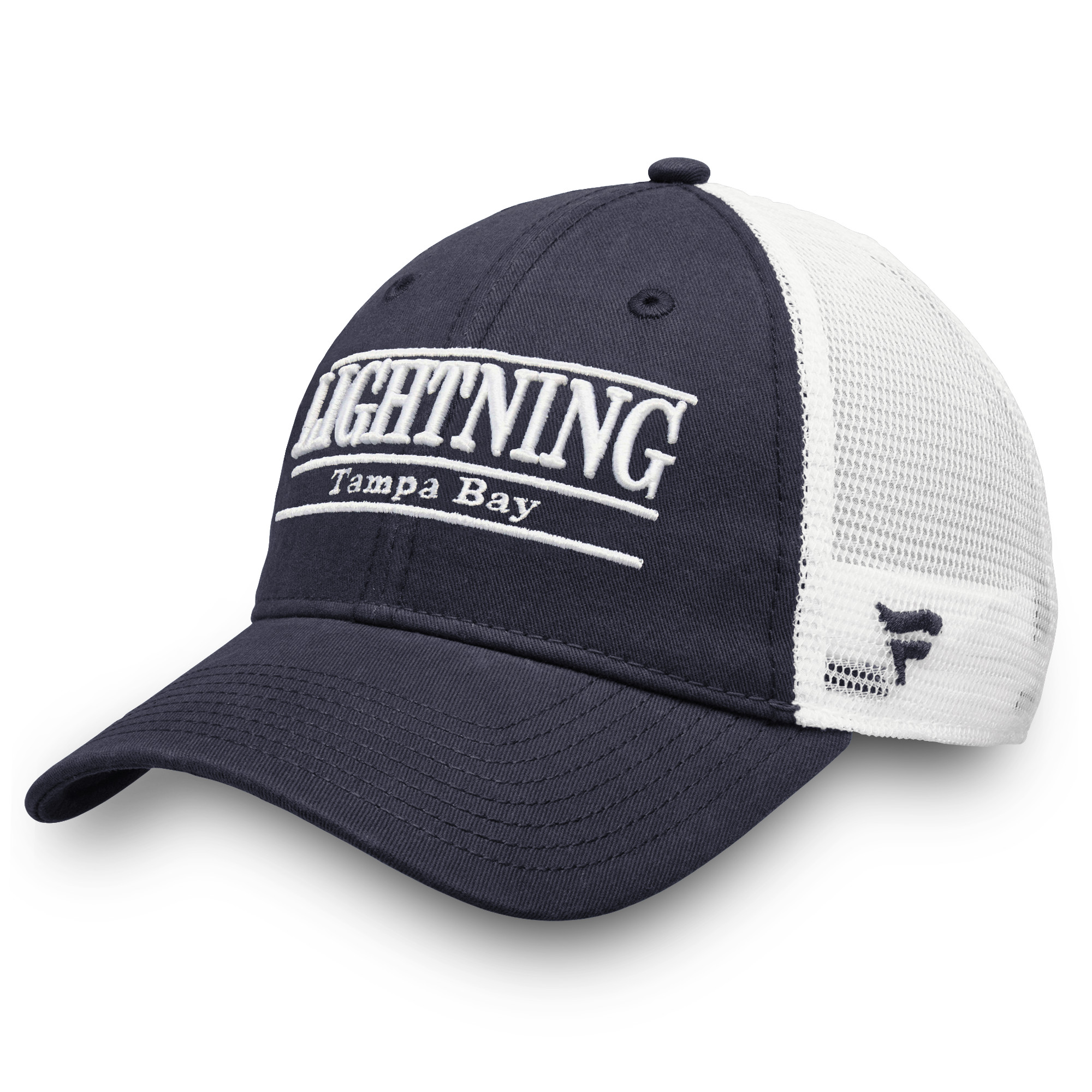 ... authentic tampa bay lightning fanatics branded trucker team color adjustable  hat blue osfa 7f34a 3c59a ae9c05b7b711