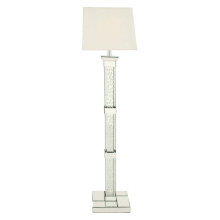 Decmode Wood Mirror Crystal Floor Lamp, Mirror - Walmart.com