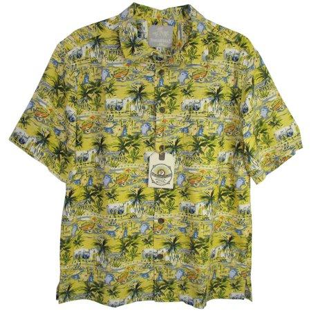 Mens 'Silk BBQ - Venice' Button-Down (Silk Button Down Shirt)