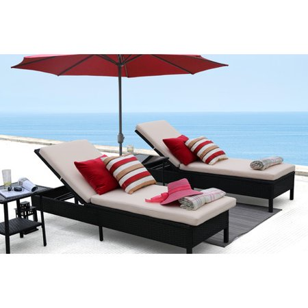 Baner Garden Adjustable Chaise Pool Lounge Chair Walmart Com