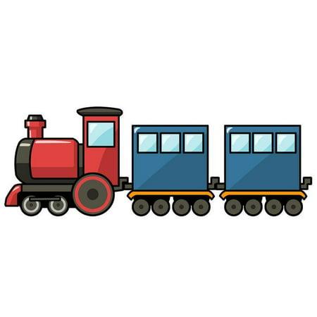 Cartoon Train Edible Icing Image Cake Topper](Train Cakes)
