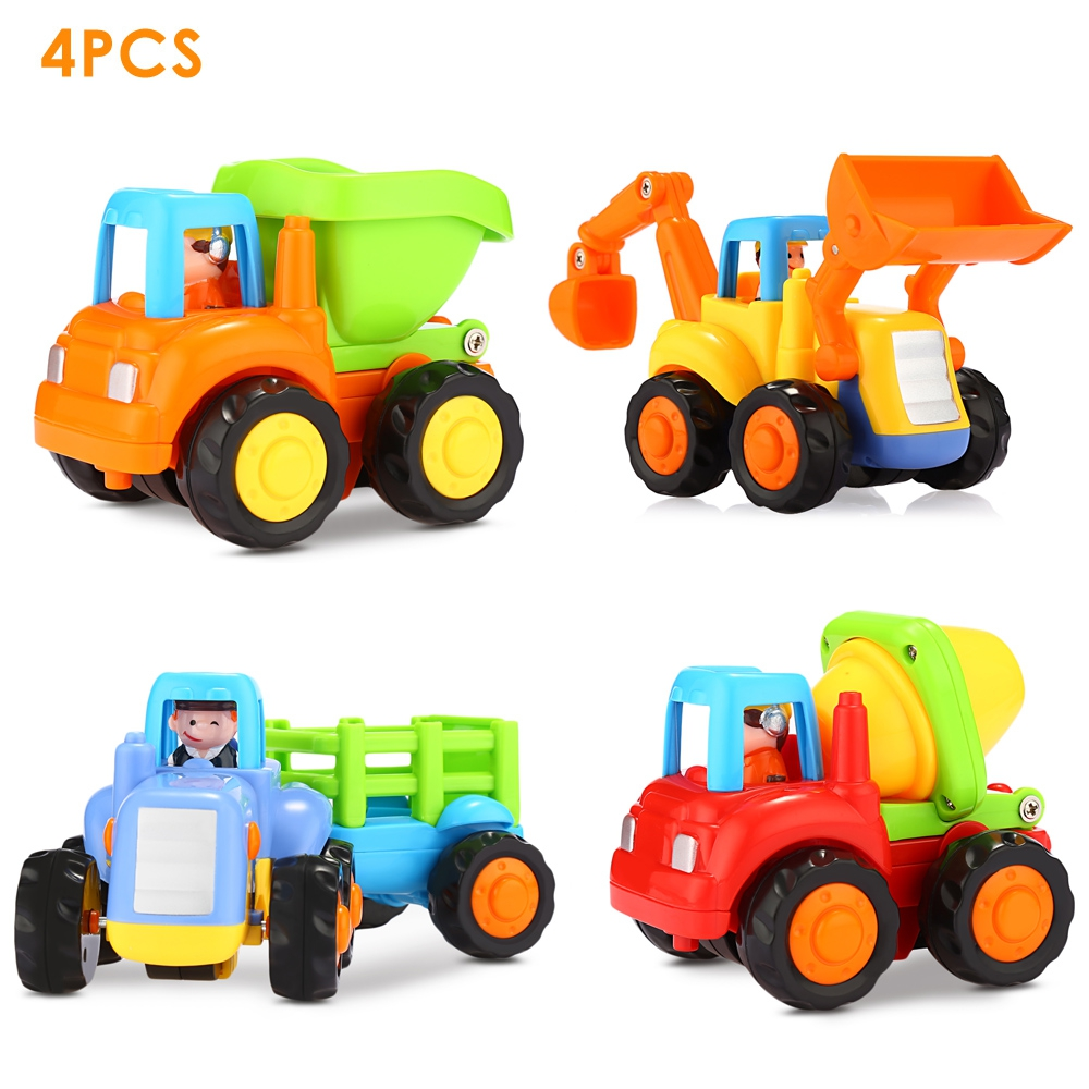 Hola 326 Engineering Vehicles Baby Toys Including Tractor   Bulldozer   Dumper   Cement Mixer by