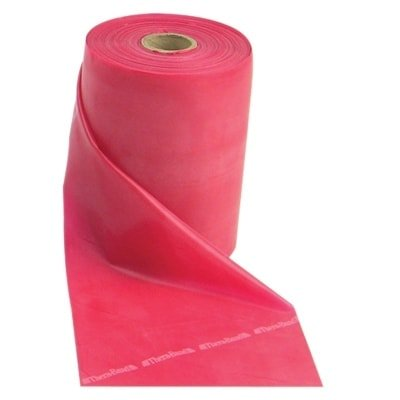 - Fabrication Ent TheraBand® Exercise Band - Latex Free - 50 yard roll - Red - Medium