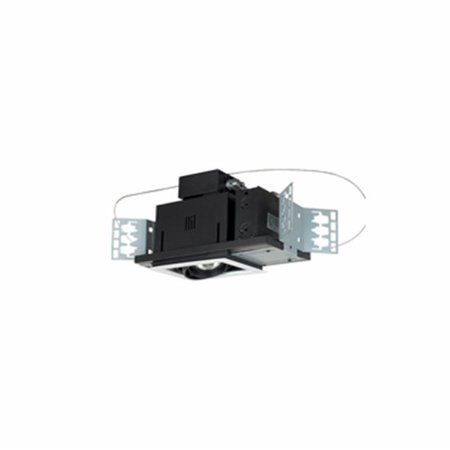 1 - Light Double Gimbal Recessed Line Voltage Fixture.
