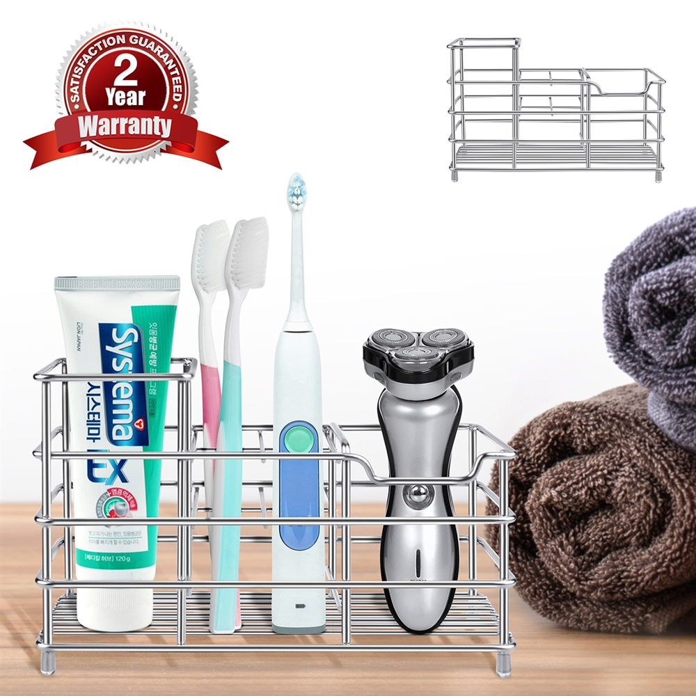 Clear Toothbrush Holder for Bathroom Mirror InterDesign Power Lock Suction