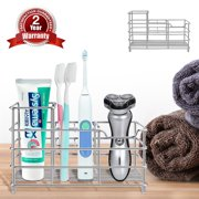 Upgraded Toothbrush Holder Bigroof Stainless Steel Eletronic Toothbrush Holder Razor Holder for Bathroom Washroom