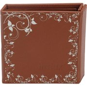 instax Wide Photo Album - 20 Capacity - Brown Synthetic Leather Cover