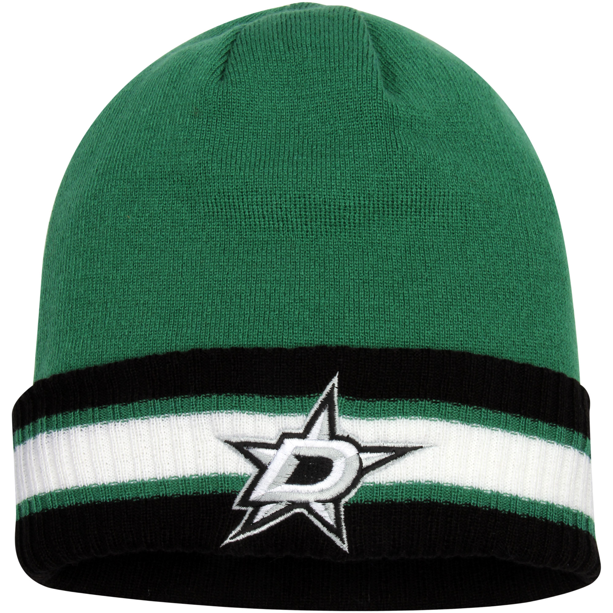 Dallas Stars Reebok Captain's Cuffed Knit Hat - Kelly Green/Black - OSFA