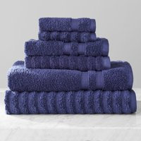 Mainstays Performance Mix Textured 6 Piece Bath Towel Set Collection