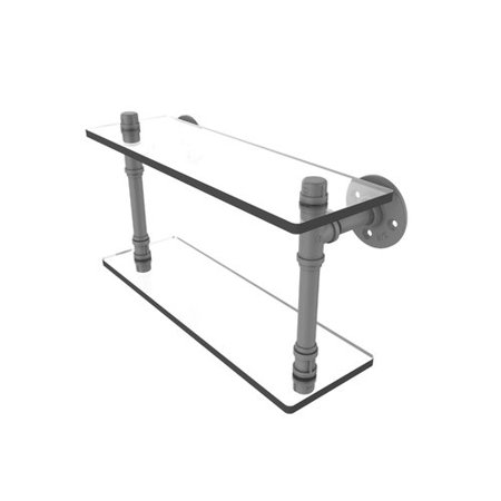 Pipeline Collection 16 Inch Double Glass Shelf
