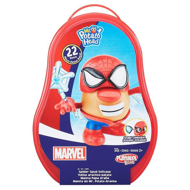 Hasbro HSBB9368 Mr. Potato Head in Spider Man Spider Spud Suitcase Set of 2 by Hasbro