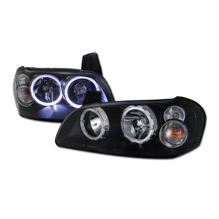Rl Concepts Jdm Blk Crystal Drl Halo Head Lights Lamp Signal Ks For 2000 2001 Nissan Maxima