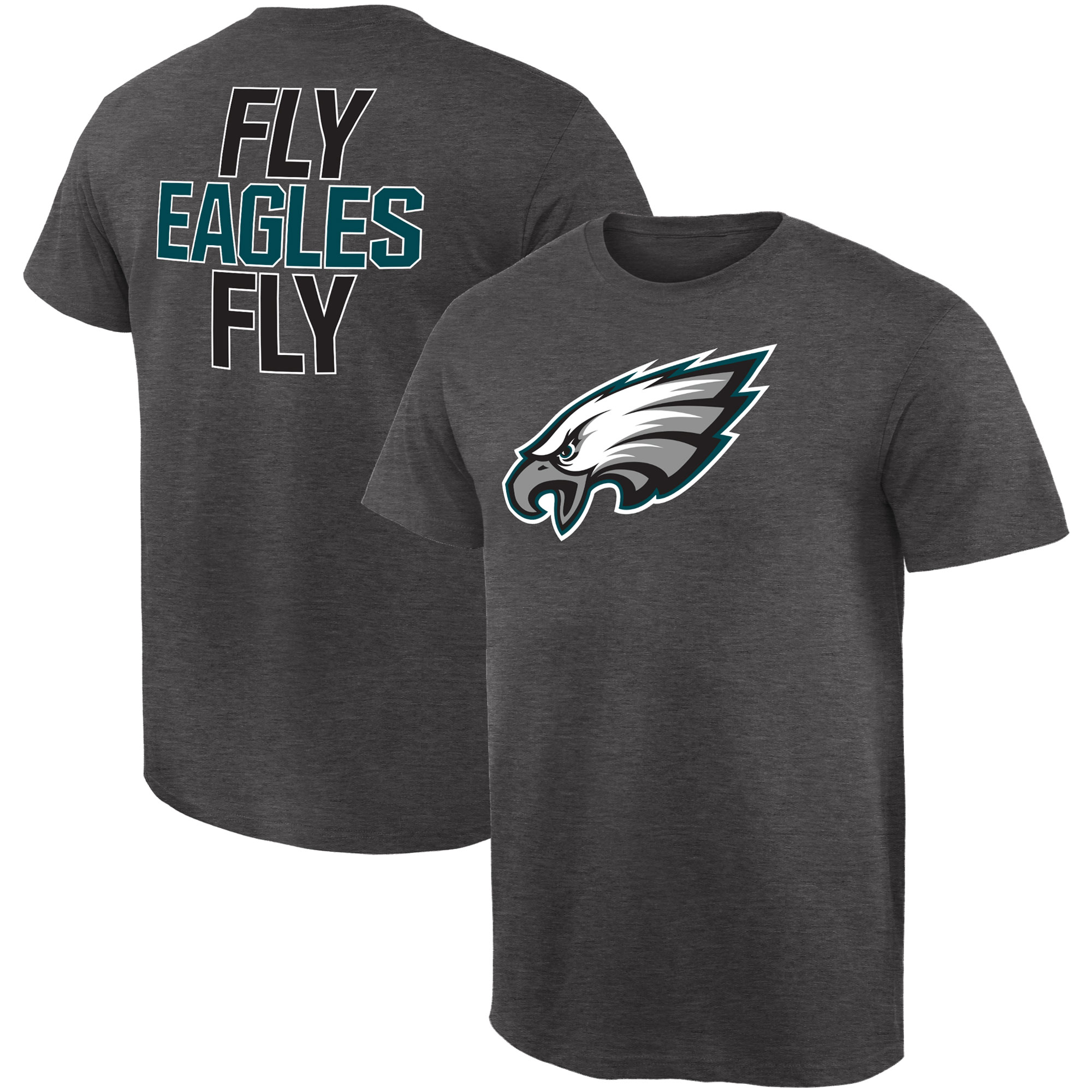 Philadelphia Eagles NFL Pro Line by Fanatics Branded Rally Logo T-Shirt - Gray
