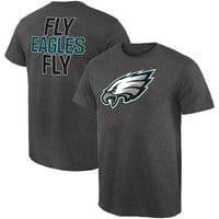 a15e901d Product Image Philadelphia Eagles NFL Pro Line by Fanatics Branded Rally Logo  T-Shirt - Gray