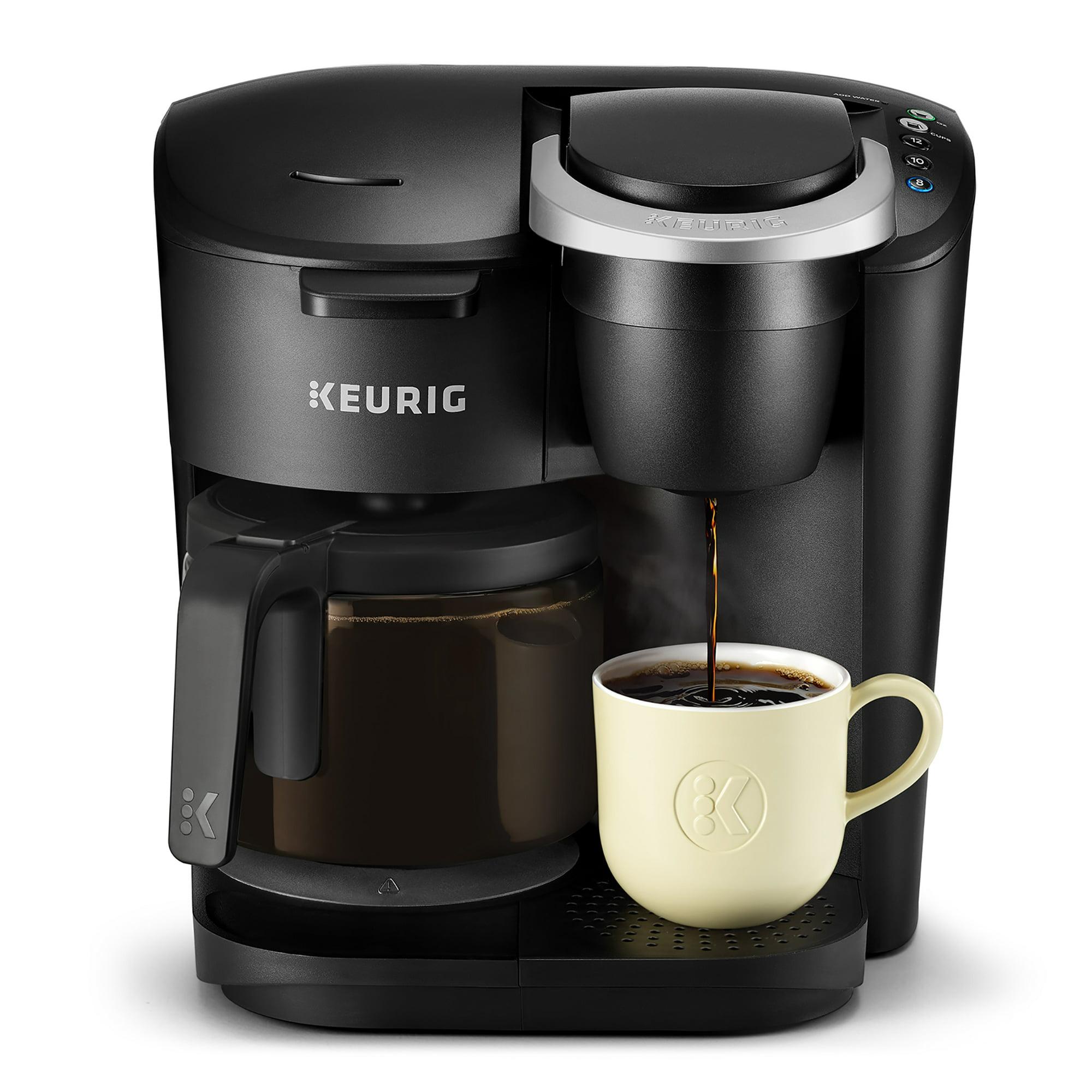 Keurig K Duo Essentials Coffee Maker With Single Serve K Cup Pod And 12 Cup Carafe Brewer Black Walmart Com Walmart Com
