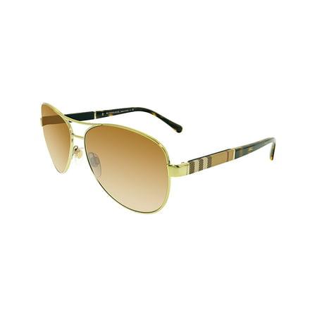 18d544df96b3 Burberry - Women's Gradient BE3080-114513-59 Brown Aviator Sunglasses -  Walmart.com