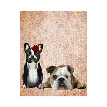 French Bulldog and English Bulldog Print Wall Art By Fab