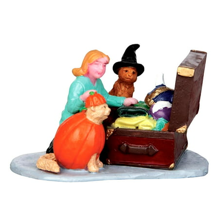 Lemax 42211 COSTUME KITTIES Spooky Town Figurine Retired Halloween Decor - Lemax Halloween Train