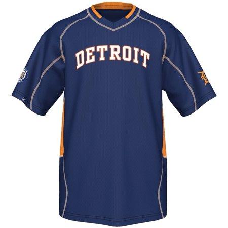 Detroit Tigers Majestic Mlb  Cooperstown  Vintage Champ  V Neck Jersey