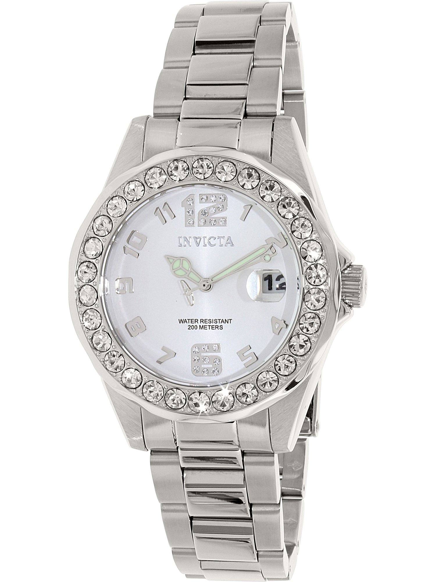 Women's Pro Diver 21396 Silver Stainless-Steel Swiss Quartz Fashion Watch