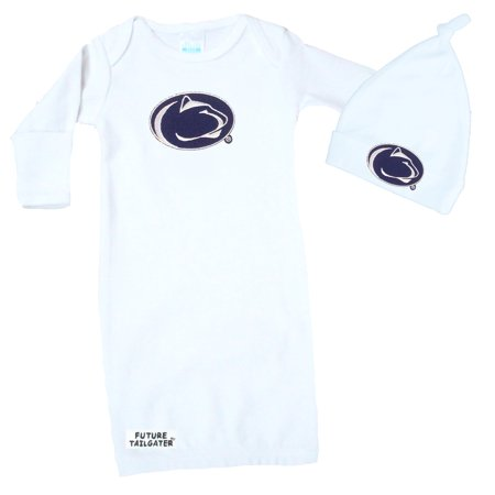 Penn State Nittany Lions Baby Layette Gown and Knotted Cap Set - Cap And Gowns For Sale