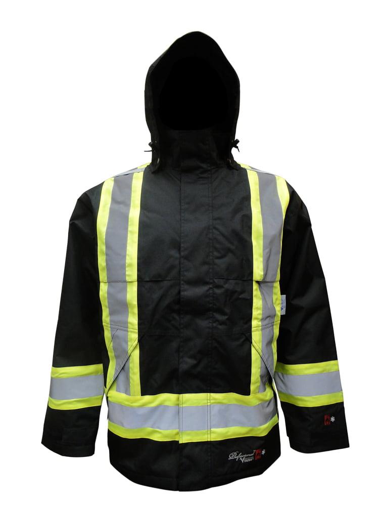 Men's Professional Insulated Journeyman 300D Trilobal Rip-stop FR Rain Jacket
