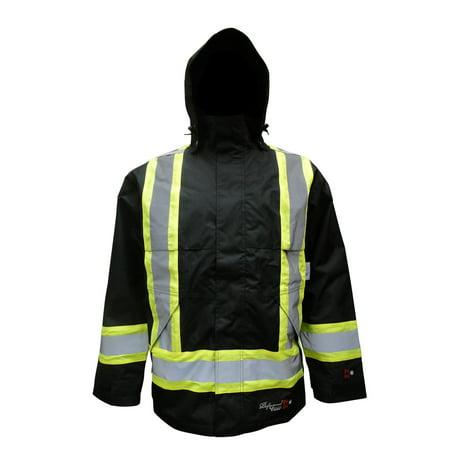 Men's Professional Insulated Journeyman 300D Trilobal Rip-stop FR Rain - Insulated Rain Jacket