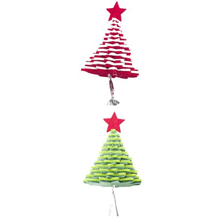 babydream1 Christmas Flannel Door Hanging Decor Star Xmas Tree Bell Metal Pendant Ceiling Decorations - image 2 of 9