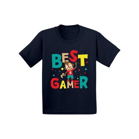 Awkward Styles Best Gamer Toddler Shirt Funny Birthday Gifts Gaming Tshirts for Kids Themed Party Boys Video Game Birthday Shirts Cute Gifts for Boys Funny Monkey Gamer T
