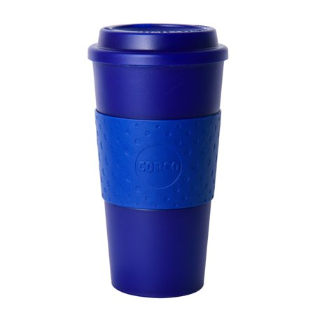 Copco Acadia Travel Reusable Mug 16 Ounce Plastic Translucent Navy