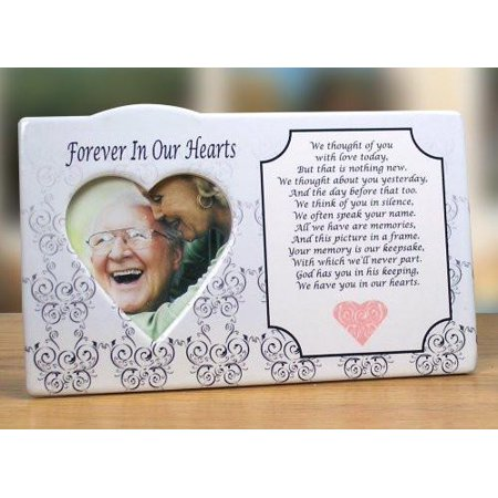 I Thought of You with Love Today Ceramic Memorial Picture Frame ()