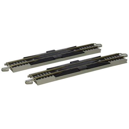 "Snap-Fit E-Z Track 9"" Straight Rerailer (2/card), Nickel Silver rail By Bachmann Trains"