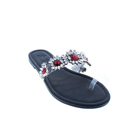 96f3d549bb05 Womens Summer Crystal Rhinestone Flip Flops Sandals AURORA-264-8 ...