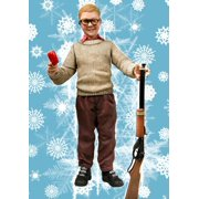 """9.5"""" A Christmas Story Ralphie with Red Ryder BB Gun Talking Action Figure"""